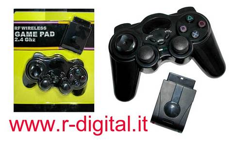 JOYPAD PS2 WIFI WIRELESS JOYSTICK PLAYSTATION 2 VIBRAZIONE