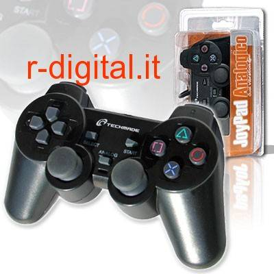 JOYPAD WIRELESS TECHMADE PC PS2 PS3 SONY PLAYSTATION 3 WIFI USB