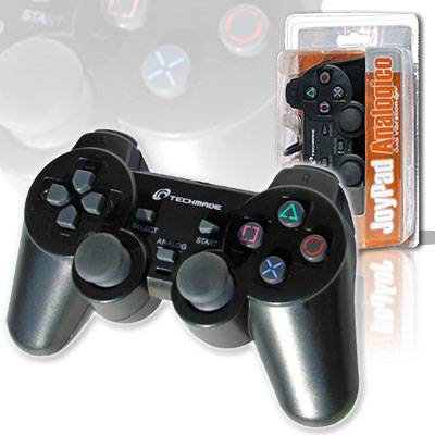 JOYPAD JOYSTICK PS PS2 TECHMADE JPD-PS2 VIBRAZIONE DUAL SHOCK