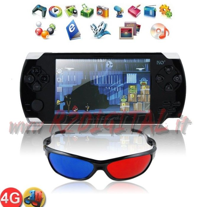 "CONSOLE PAP LED 4.3 ""+ 600 GAMES GAME PSP WIFI HD VIDEO"