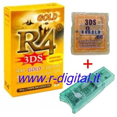 CARTUCCIA ADATTATORE R4i NEW GOLD NINTENDO DS DSi XL MICRO SD