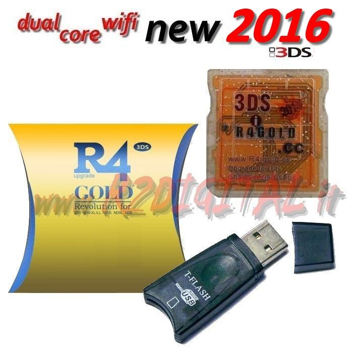 CARTUCCIA R4i DUAL CORE new R4 NINTENDO 3DS XL DS DSI WIFI 3D L