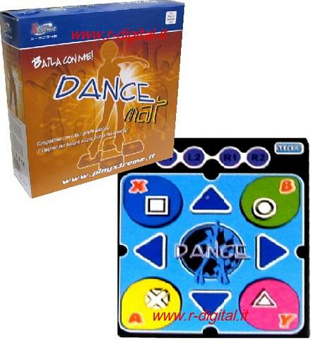 TAPPETINO DANCE PLAYSTATION 2 PS2 FAMILY TAPPETO MAT SLIM