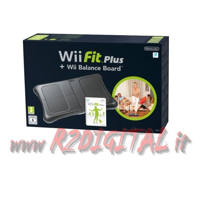 NINTENDO WII FIT PLUS BLACK BALANCE BOARD + GIOCO WII FIT PLUS