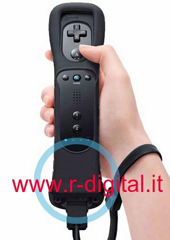 TELECOMANDO REMOTE WII CONTROLLER + MOTION PLUS NERO CUSTODIA