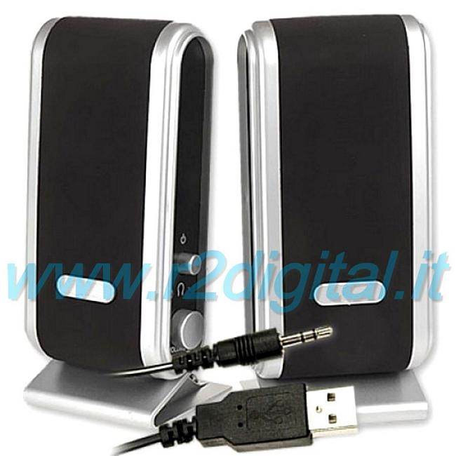 CASSE NOTEBOOK USB ALTOPARLANTI COMPUTER PC AUDIO 2.0 S2030