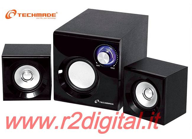 CASSE TECHMADE 2.1 TM-2100D ALTOPARLANTI COMPUTER DOLBY SURROUND