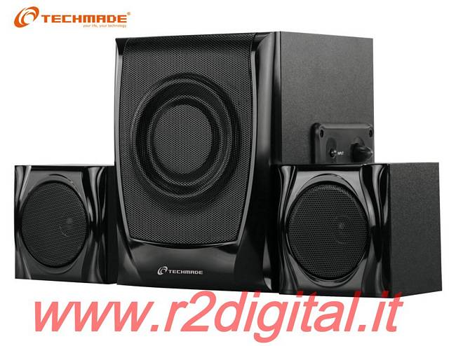 CASSE TECHMADE 2.1 TM-2101A ALTOPARLANTI COMPUTER DOLBY SURROUND