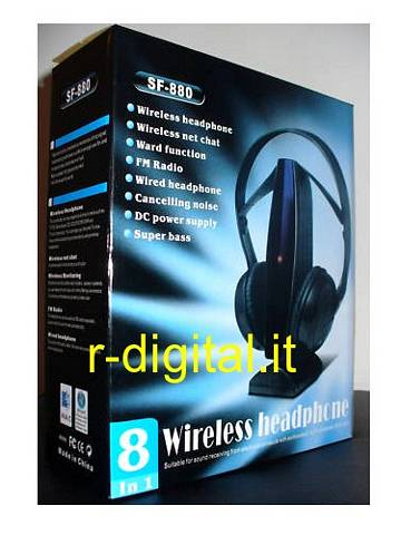 CUFFIE WIRELESS OEM 5 in1 RADIO FM STEREO SENZA FILI MH2001