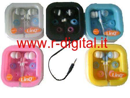 AURICOLARI STEREO JACK 2,5 CUFFIE IPHONE IPOD MP3 PC MP4 MAC