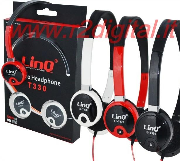 CUFFIE T PROFESSIONALI per DJ HI-FI PC GAME MP4 STEREO JACK 3,5