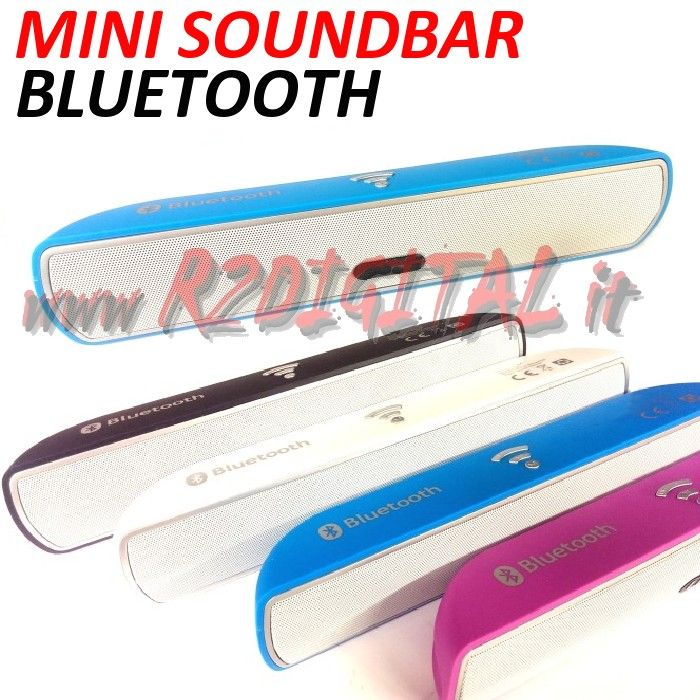 SOUNDBAR MINI BLUETOOTH USB PER TV MONITOR PC SMARTPHONE TABLET