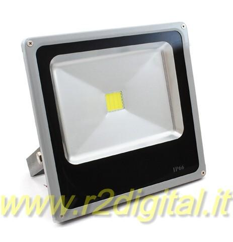 FARO LED 10W IP66 SLIM FARETTO ESTERNO PROIETTORE LUMINOSO HD