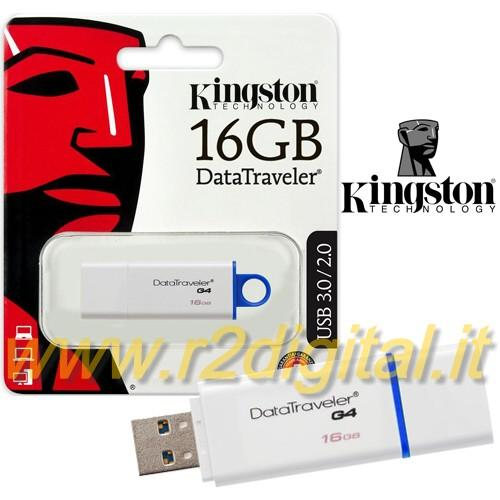 PENDRIVE DTIG4 KINGSTON 16 GB USB 3.0 PENNA ALTA VELOCITA PEN