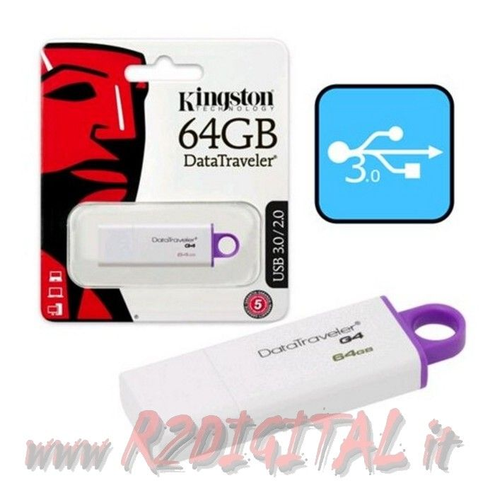 PENDRIVE DTIG4 KINGSTON 64 GB USB 3.0 PENNA ALTA VELOCITA PEN
