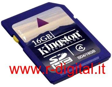 SD SECURE DIGITAL KINGSTON 16GB TRANFLASH CLASS 4 SCHEDA MEMORIA