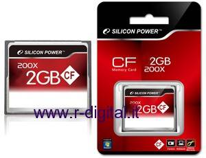MEMORY CARD COMPACT FLASH 2Gb SILICON POWER CF MEMORIA