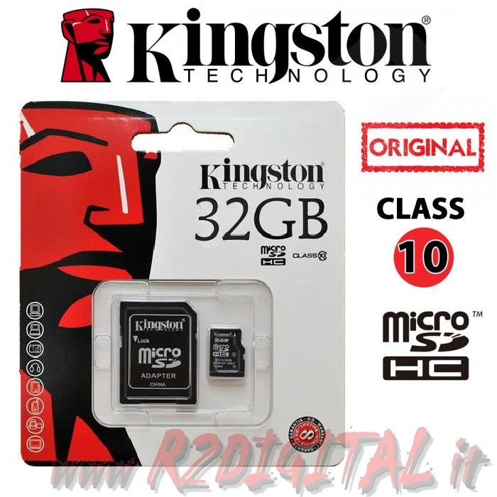 KINGSTON MICRO SD 32 GB C10 TRANSFLASH SCHEDA MEMORIA HC 32GB