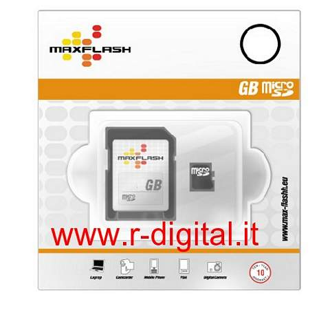 MAXFLASH MICRO SD 16 GB TRANSFLASH SCHEDA MEMORIA 16GB