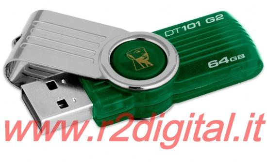 PENDRIVE G2 D101 KINGSTON 64 GB DATATRAVELER PENNA DRIVE PEN USB