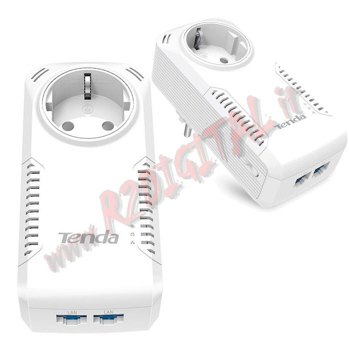 ADATTATORE TENDA P1002P KIT 2Pz POWERLINE RETE LAN ETHERNET