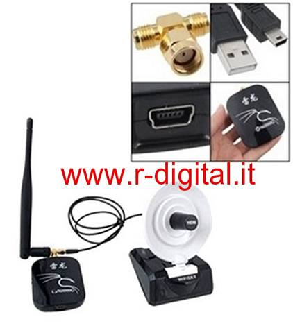 ANTENNA DOPPIA RICEVITORE WIFI 9600G USB WIRELESS 2.4Ghz POTENTE [art 2146]