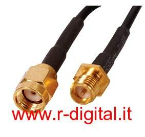 CAVO PROLUNGA SMA 5Mt M/F MASCHIO FEMMINA PER ANTENNE WIRELESS