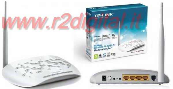 ROUTER TP-LINK TD-W8951ND WIRELESS N MODEM 150Mbps LAN ADSL WIFI