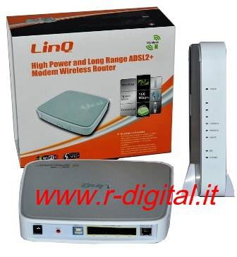ROUTER LINQ WIRELESS N 150M WIFI MODEM ADSL LAN SWITCH USB