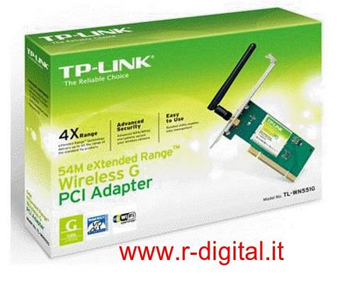 SCHEDA DI RETE TP-LINK TL-WN551G WIFI WIRELESS 54Mbts PCI