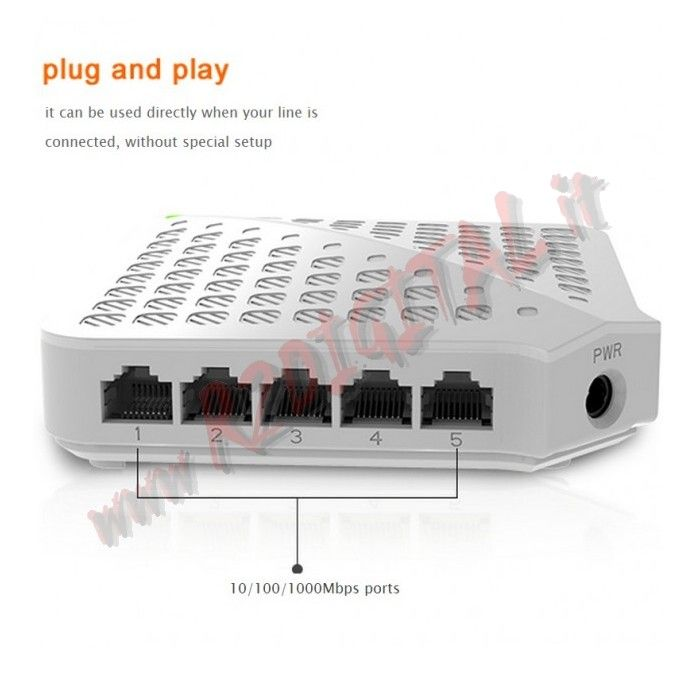 HUB SWITCH TENDA 5 P SG50 100/1000 ETHERNET SDOPPIATORE GIGA LAN