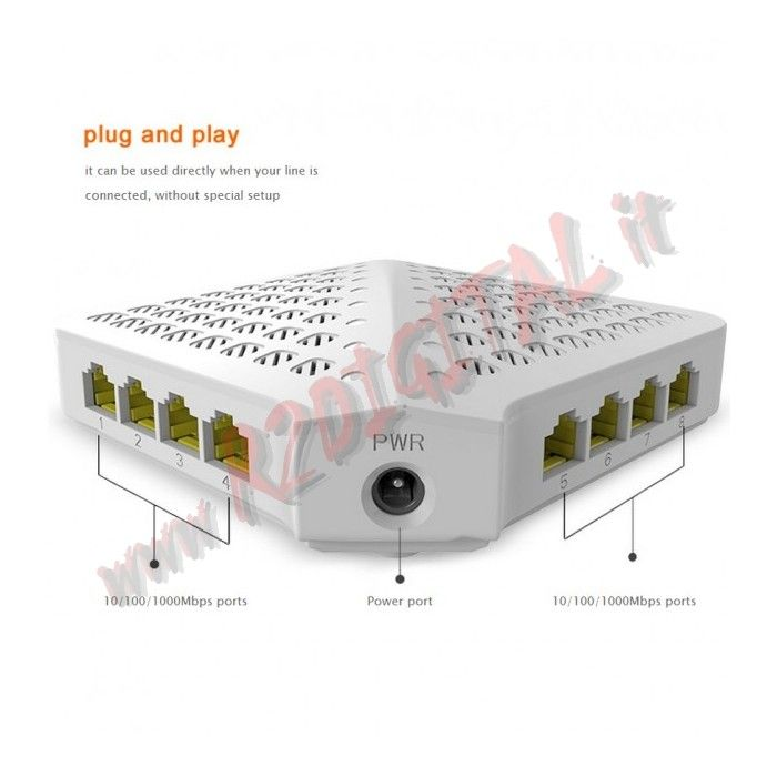 HUB SWITCH TENDA 8 P SG80 100/1000 ETHERNET SDOPPIATORE GIGA LAN