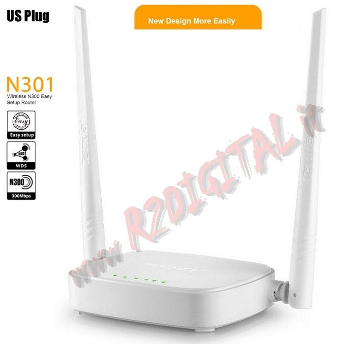 ACCESS POINT TENDA N301 WIRELESS 300M N LAN WAN WIFI ROUTER