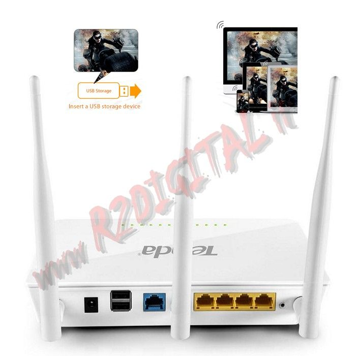 ROUTER TENDA AC1750 WIRELESS N DUAL BAND 1750Mbps LAN WAN WIFI
