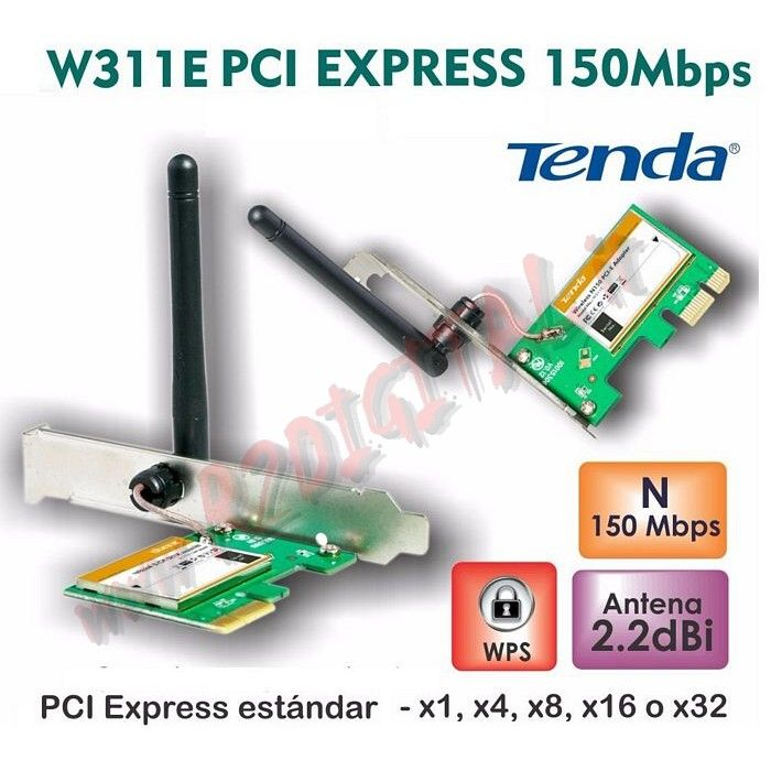 SCHEDA RETE TENDA W311E WIFI 150M 2.4 GHz WIRELESS PCI EXPRESS