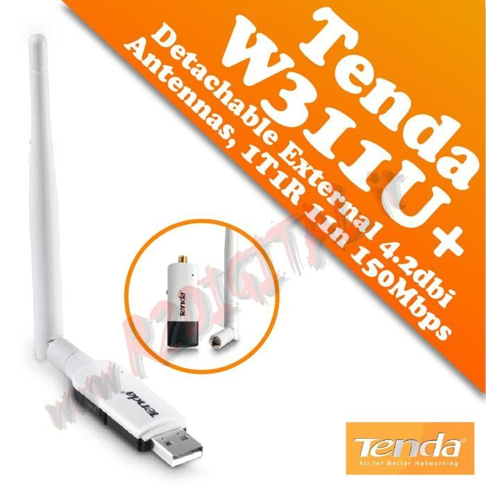 ANTENNA USB TENDA W311U+ DUAL BAND WIFI WIRELESS N NOTEBOOK PC