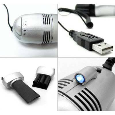 Aspirapolvere mini vacuum pulizia tastiera usb led pc for Mini aspirapolvere