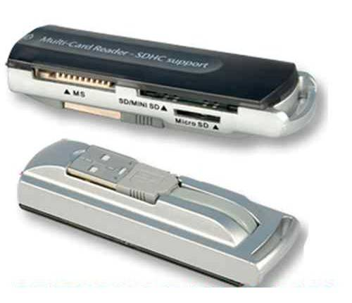 MULTI CARD READER LETTORE SCHEDE USB ALL IN 1 SDHC HI-SPEED