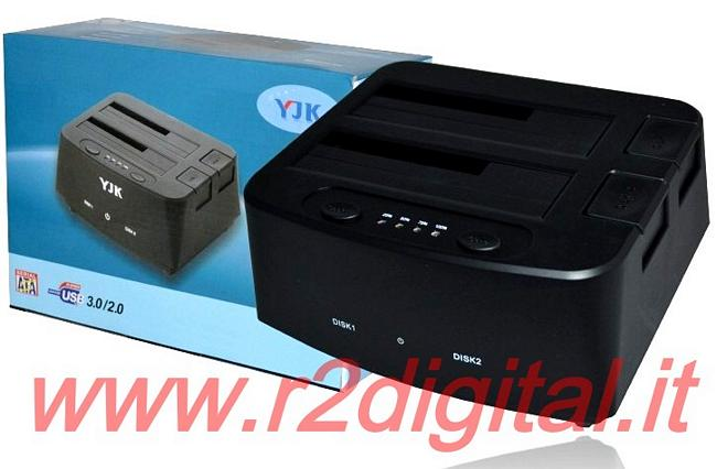 DOCKING STATION DUAL HD BACKUP HARD DISK BOX NAS USB 2.0 3.0