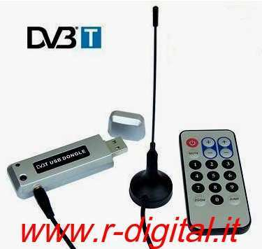 PENNA USB 2.0 DVB-T DIGITALE TERRESTRE HDTV ANTENNA PC NOTEBOOK