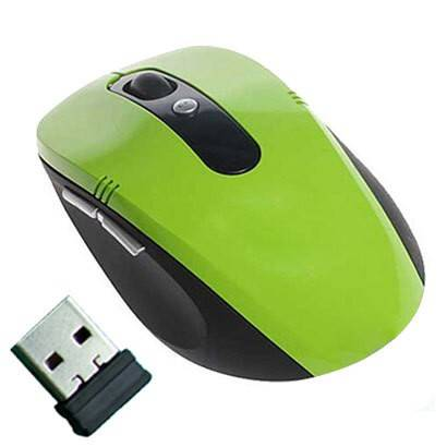 MOUSE WIRELESS 2.4 GHz OTTICO USB NANO PER PC LASER NOTEBOOK