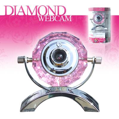 WEBCAM DIAMOND TECHMADE 1.3 MEGA PIXEL USB 2.0 MICROFONO 7 LED
