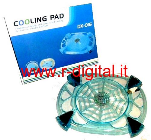 DISSIPATORE NOTEBOOK 14 15 POLLICI 18cm VENTOLA LED COOLING PAD