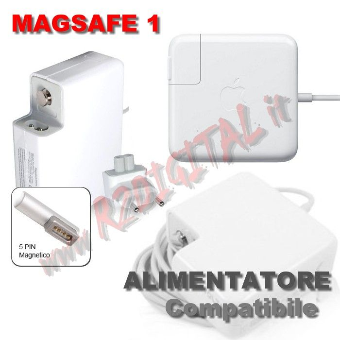 "ALIMENTATORE APPLE MAGSAFE1 MACBOOK 60W PRO 13"" BULK 16.5V 3.65A"