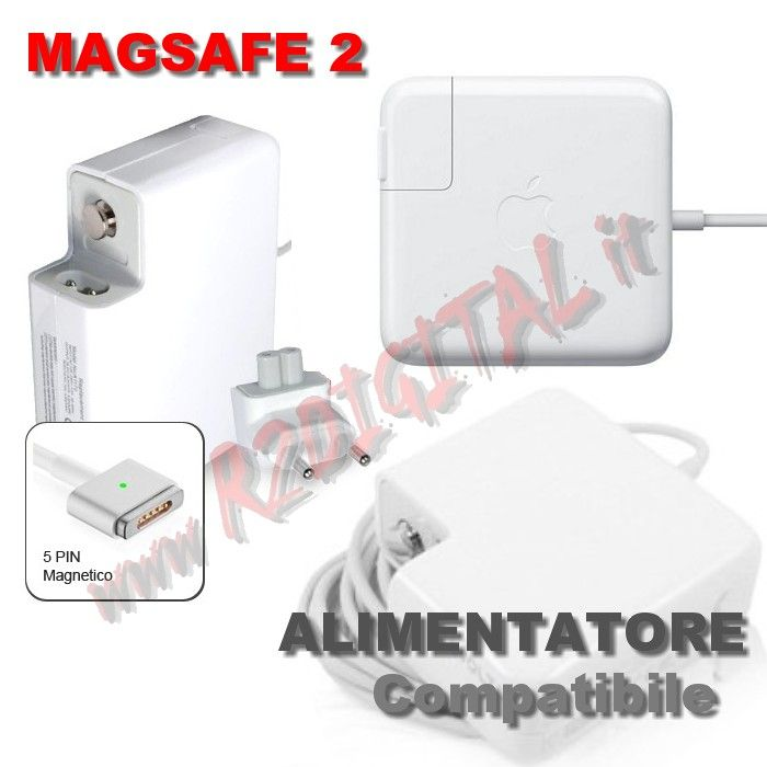ALIMENTATORE APPLE MACBOOK 60W MAGSAFE2 16.5V 3.65A PRO 13
