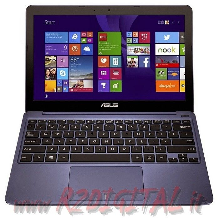"NETBOOK ASUS X205 11,6"" QUAD CORE RAM 2Gb HD SSD WINDOWS 8.1 WEB"
