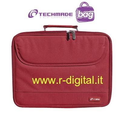 BORSA 15 15.4 15.6 TECHMADE NH-1001 RED TRACOLLA NOTEBOOK