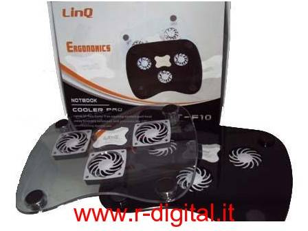 DISSIPATORE NOTEBOOK LINQ 14 15 POLLICI + PORTE USB COOLING PAD