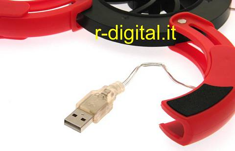 MINI DISSIPATORE LED TONDO NOTEBOOK NETBOOK USB TASCABILE