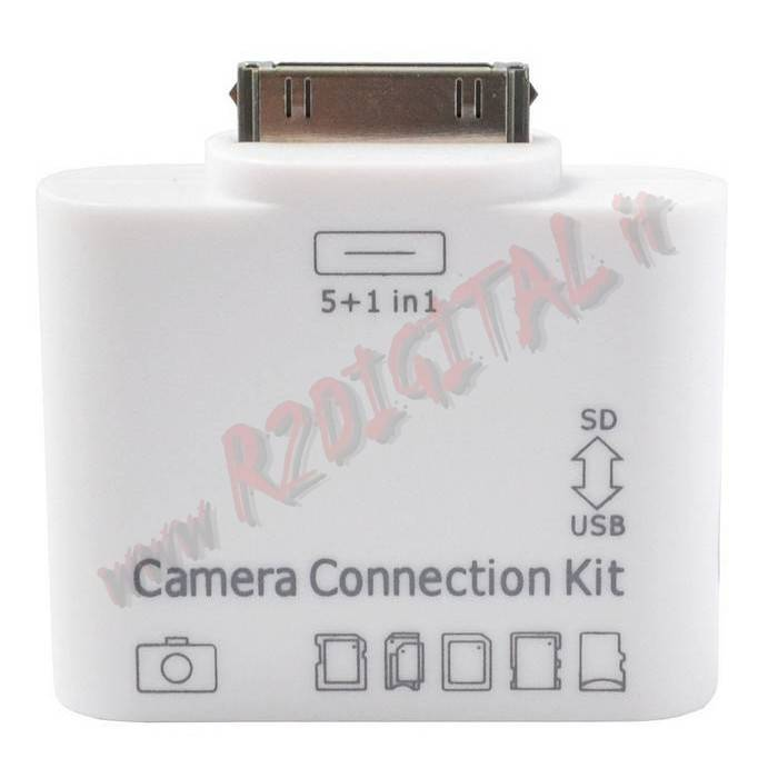 CARD READER KIT IPAD PORTA USB LETTORE SCHEDE 5in1 SD MMC XD MS